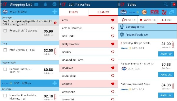 Favado - Grocery & Shopping List Android App Features & Screenshot