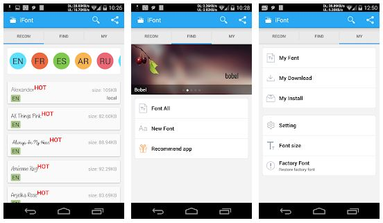 iFont - (Expert of Fonts) Screenshots- app for android to get iphone emoji - rooted