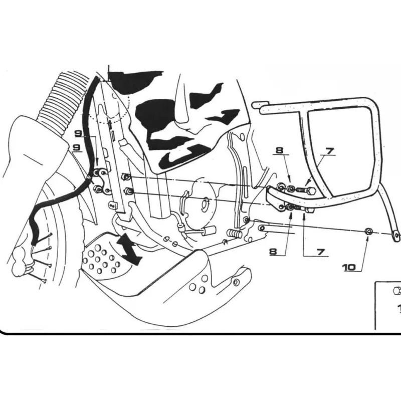 Pare-carters spécifiques TN362 GIVI pour Honda XRV 750