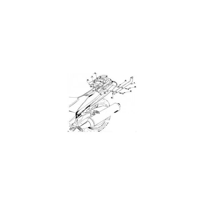 Support spécifique 422F GIVI (sans platine) pour top case