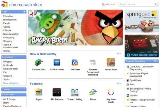Google Chrome extensions store