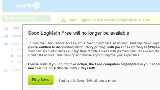Populaire remote desktop tool LogMeIn stopt met gratis versie