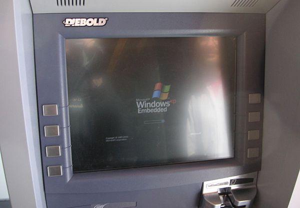 Veel geldmachines in de Verenigde Staten gebruiken nog Windows XP