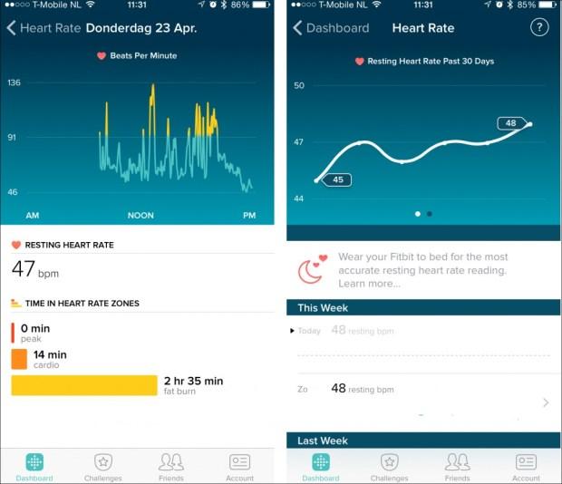 hartslag Fitbit Charge HR