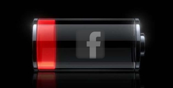 iPhone accu facebook app
