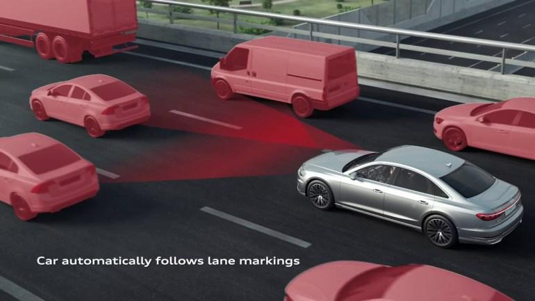 Audi A8 traffic jam pilot