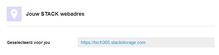 Jouw Stack account