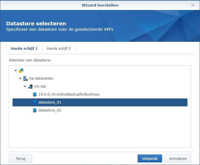 Synology Active Backup Restore 12