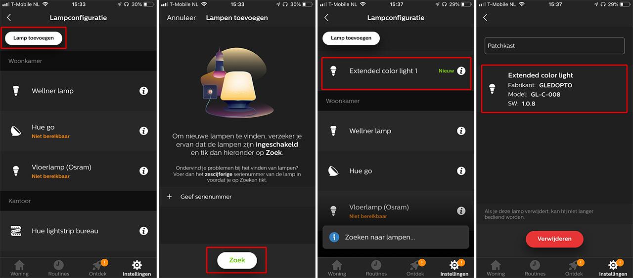 Review: Gledopto LED-controller koppelen aan Philips Hue