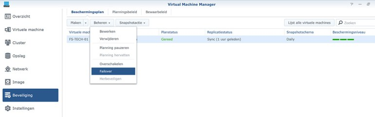 Synology VMM Snapshot replication Failover01