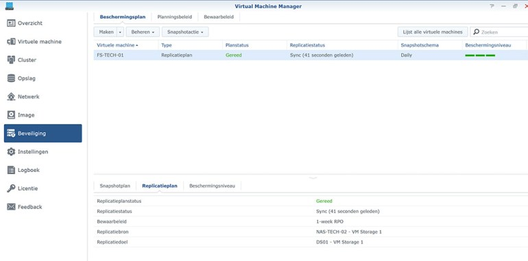 Synology VMM Snapshot replication Snapshot03