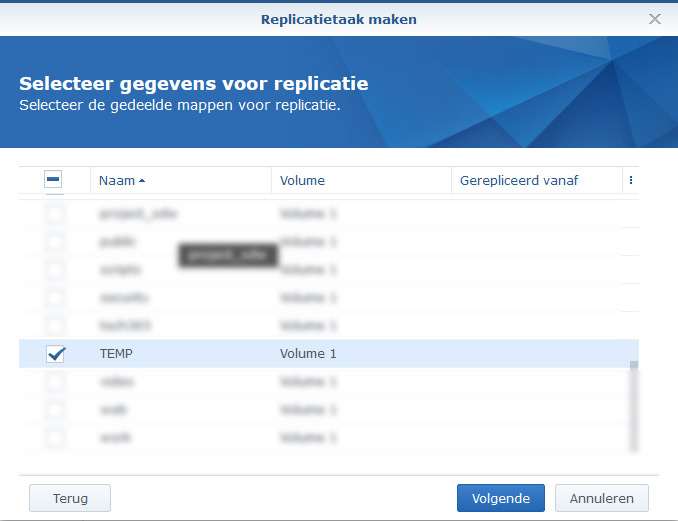 Synology Snapshot Replication 21
