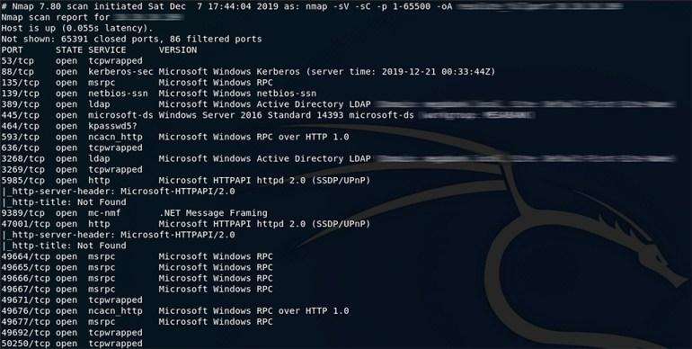 HackTheBox_scanning