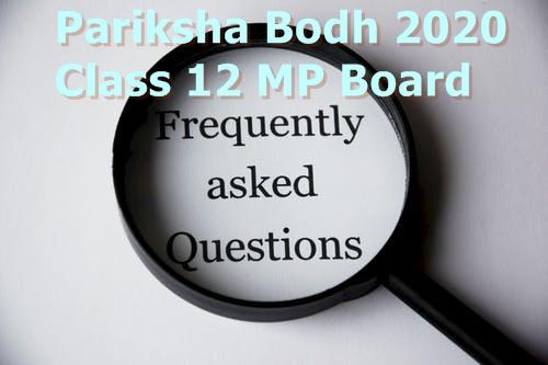 Pariksha Bodh 2020 Class 12 MP Board