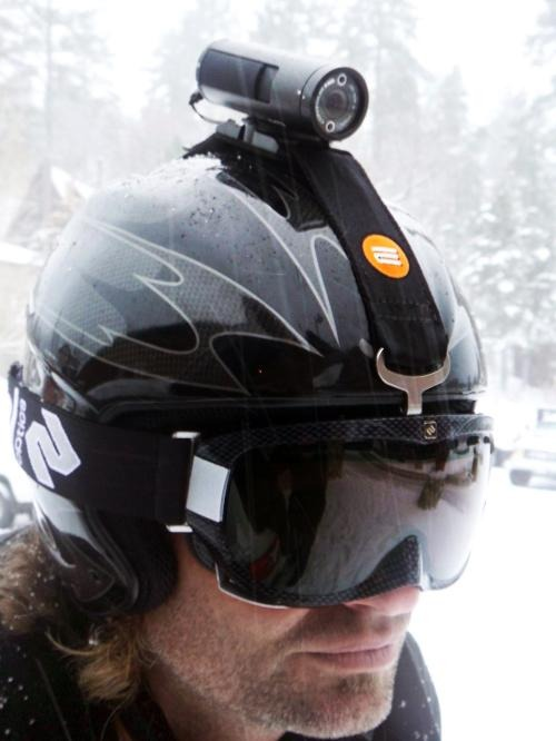 Awesome helmet cam to capture skiing moments