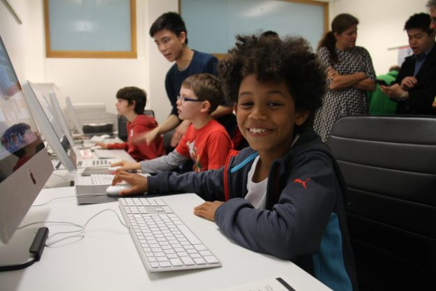 Young coders at Raspberry Jam in South London
