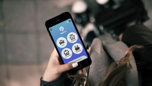 TapSOS app on a smartphone