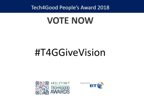 GiveVision, Accessibility Award Finalists