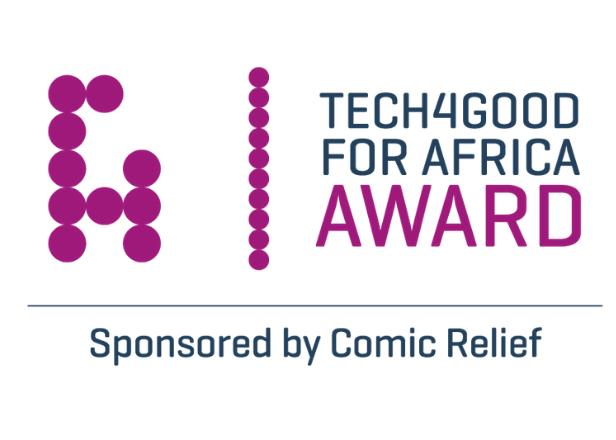 Tech4Good Africa Award sponsored by Comic Relief logo