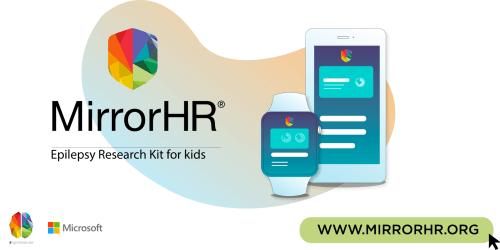 MirrorHR logo with MirrorHR app on smart phone and smart watch