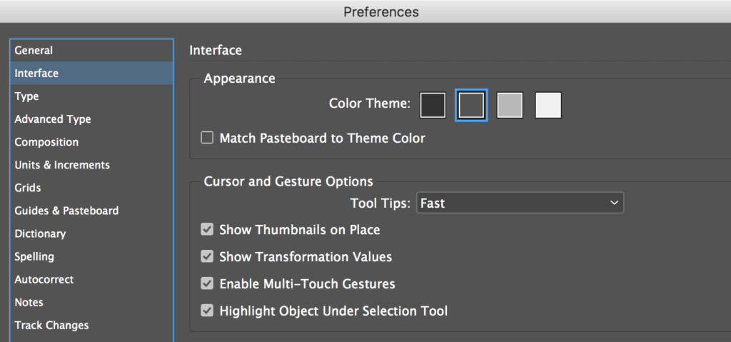InDesign Tip Interface Color Theme Option  Technology