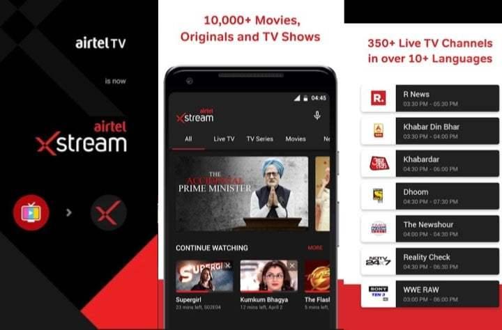 Airtel Xstream App: Movies &TV Shows (Live TV unavailable)