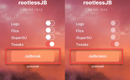 rootlessjb jailbreak ignition