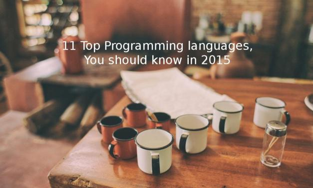 11 Top Programming languages, You Should Know in 2015-2016