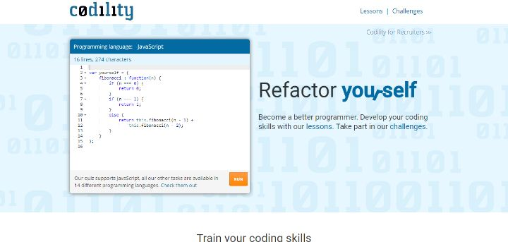 6 Refactor yourself. Train your programming skills – Codility