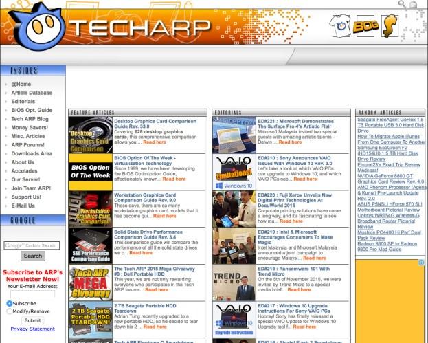 New Tech ARP Archive