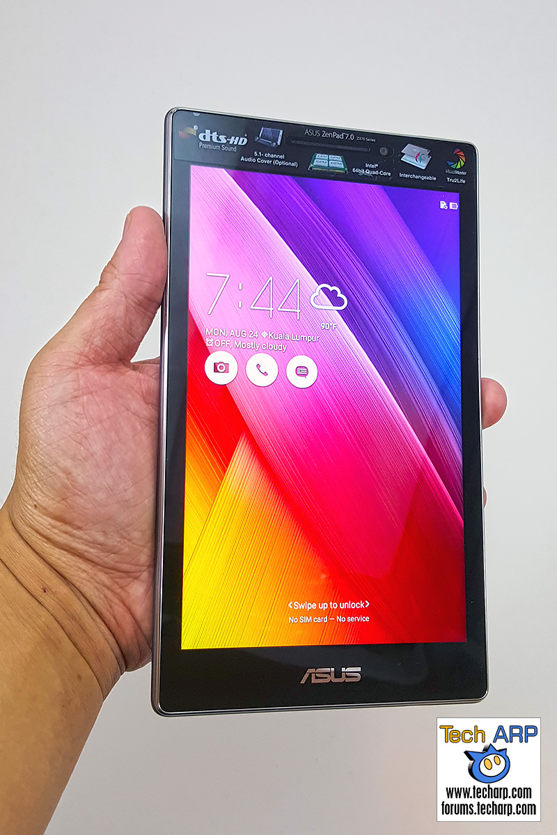 ASUS ZenPad 7.0 (Z370CG) table turned on
