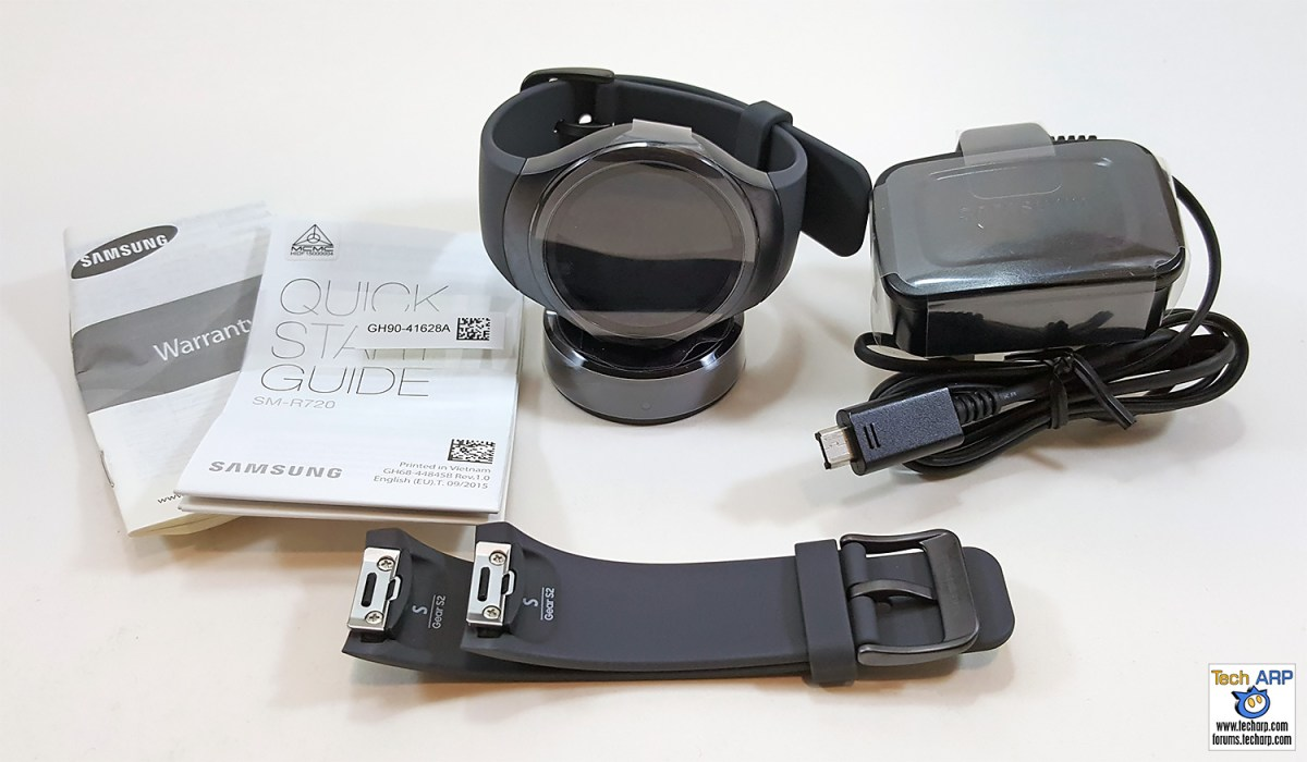 Contents of the Samsung Gear S2 box