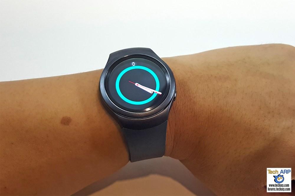 Samsung Gear S2 on wrist