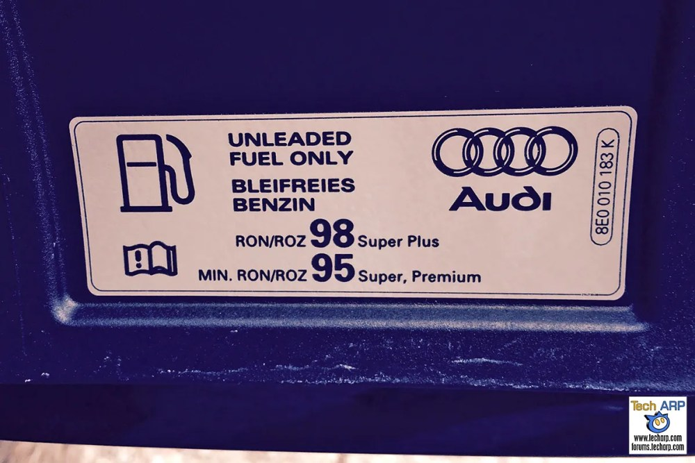 Octane Rating Myth - Audi RS4 octane ratings