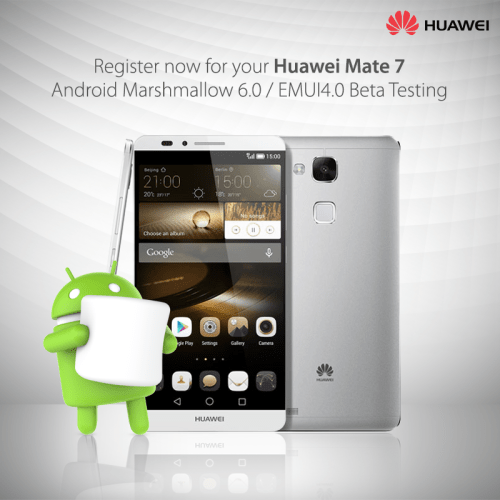 Huawei P8 & Mate 7 Android Marshmallow Beta