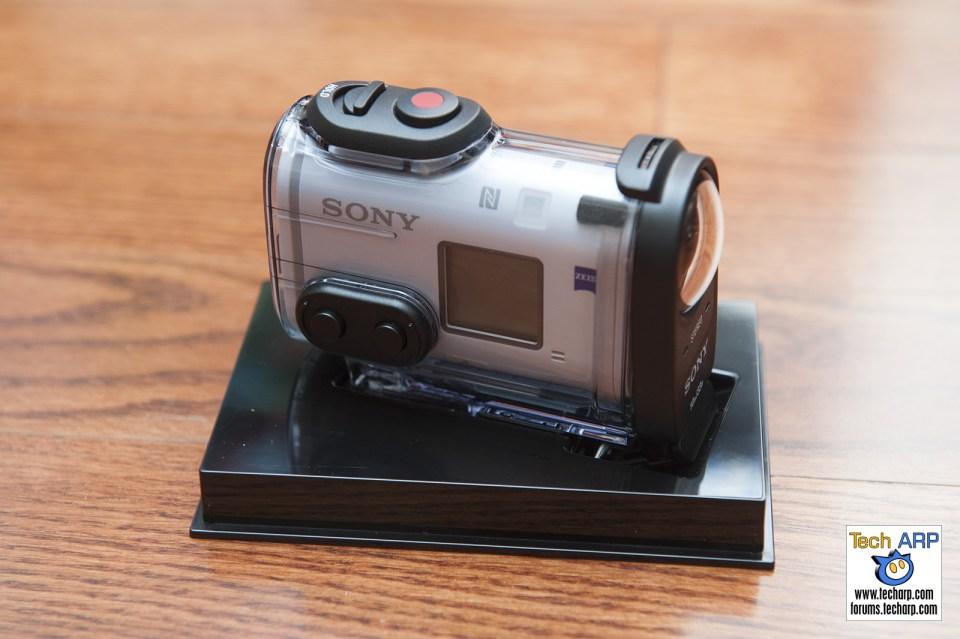 Sony FDR-X1000V Action Camera Side Shot