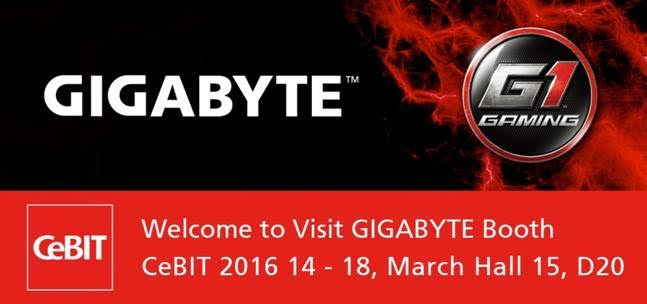 GIGABYTE CeBIT 2016 To Showcase New HEDT & BRIX Products