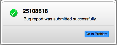 Apple iOS Bug Report #25108618