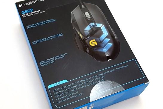 Logitech G502 Proteus Spectrum Gaming Mouse Box