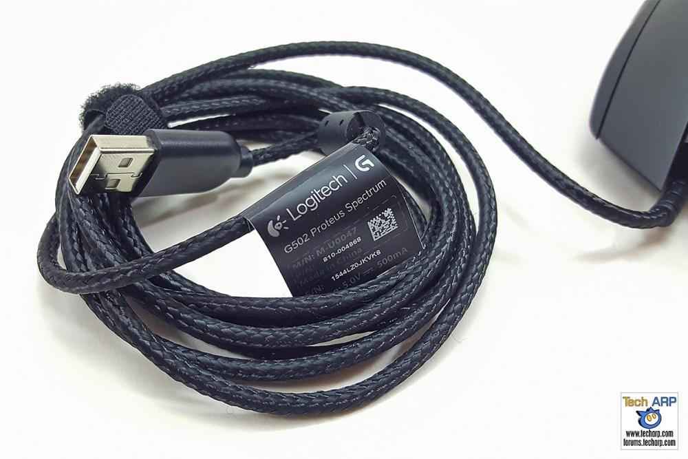 Logitech G502 Proteus Spectrum Gaming Mouse USB cable