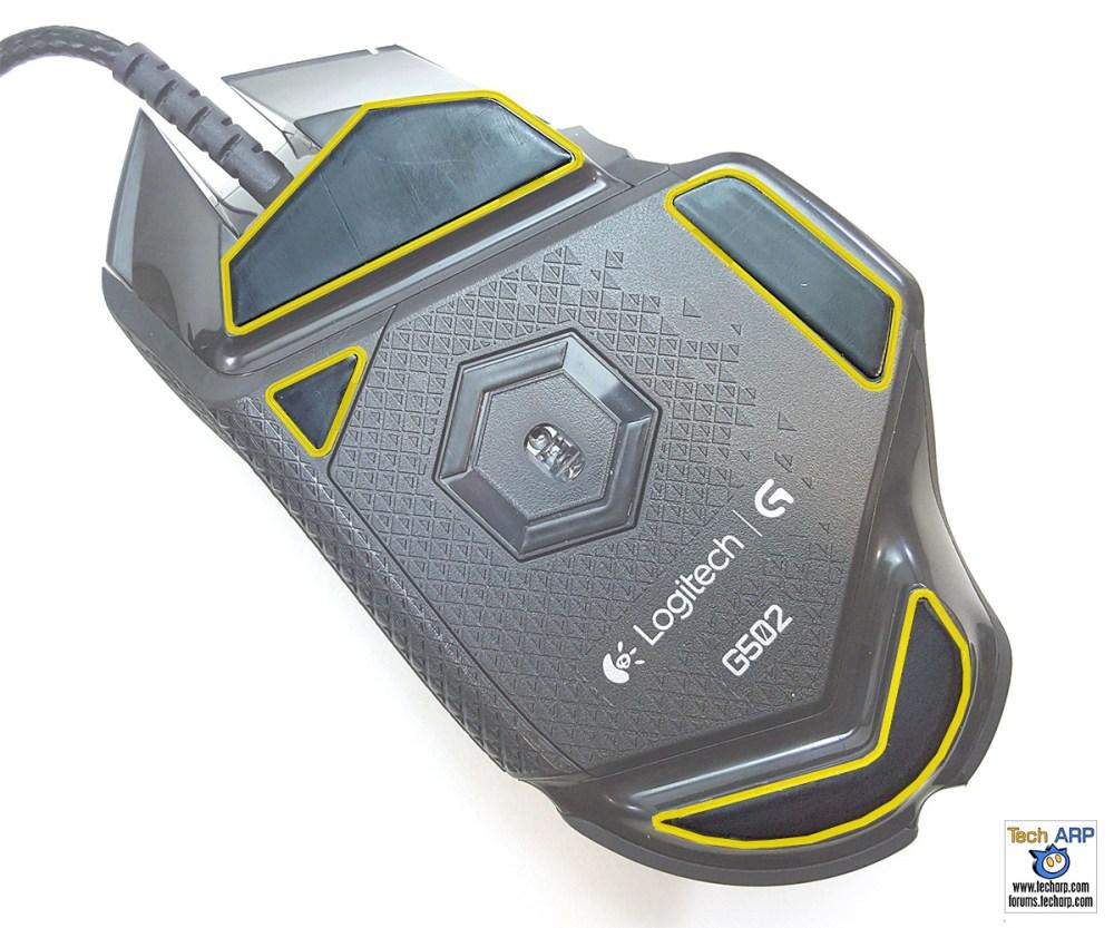 Logitech G502 Proteus Spectrum Gaming Mouse feet
