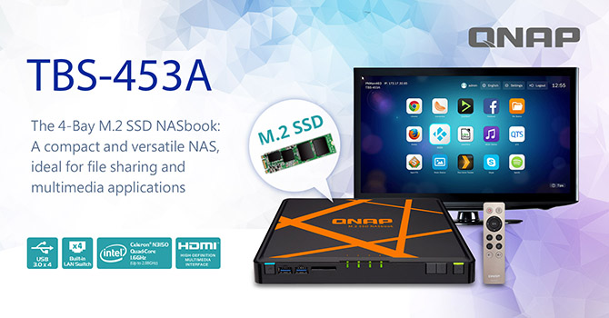 QNAP TBS-453A NASbook Launched