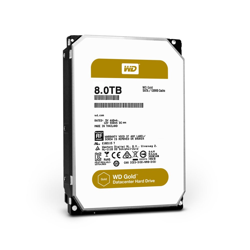 WD Gold Datacenter Hard Drives Launched