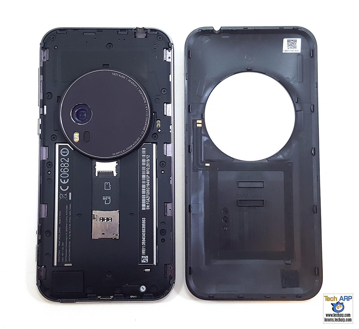 ASUS ZenFone Zoom (ZX551ML) opened