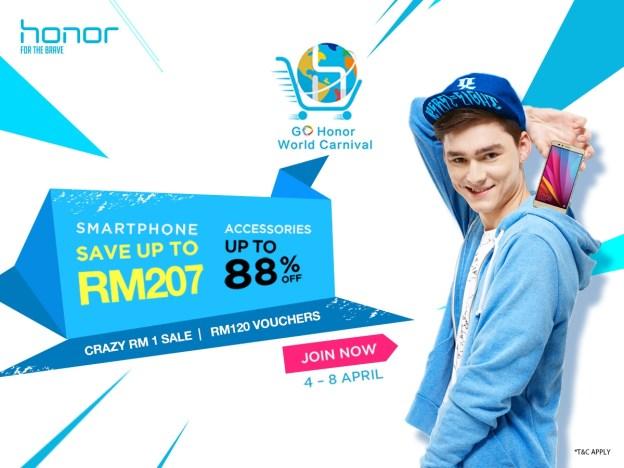 honor Malaysia Crazy RM1 Sale