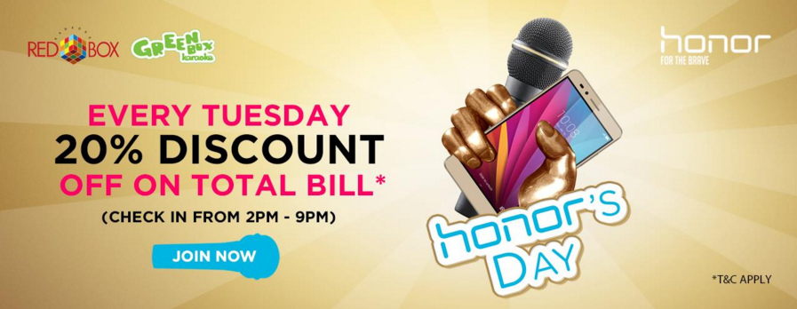 honor's Day with Redbox M'sia Every Tuesday