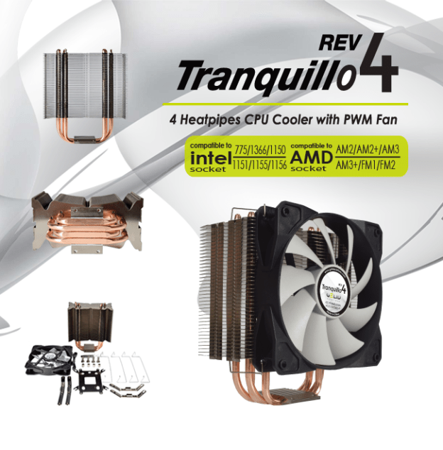 Gelid Solution Rev.4 Tranquillo CPU Cooler Launched