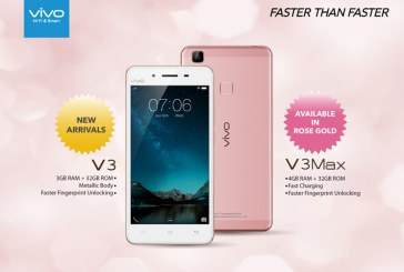 vivo V3 & V3 Max Rose Gold Smartphones Released