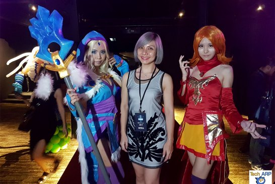 Cosplayers at ESL One Genting Launch Event