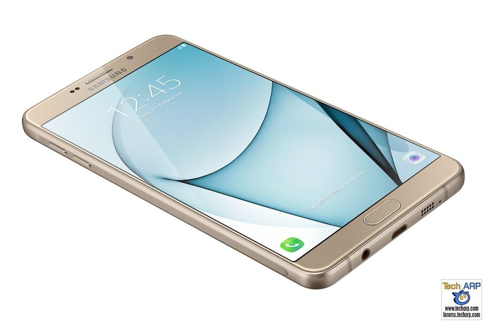 Samsung Galaxy A9 Pro Gold display